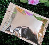 Wholesale Potpourri Bags - 12*20cm aluminum foil pouch flat zipper top foil zip lock for potpourri bag aluminum pouch flat food bag with powder bag