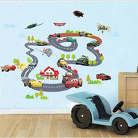 Great 90*140cm Hot Sale Toy Story Highway Track Car Wall Stickers Home Decoration  Sticker For Kids Room Wall Paper UK Photo Gallery