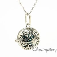 Wholesale make your own necklace resale online - snowflake ball openwork aromatherapy necklace aromatherapy jewelry make your own oil diffuser aromatherapy necklace diffuser penda