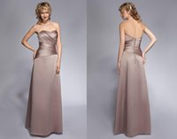 Wholesale Charmeuse Formal Dress - Free Shipping Cheap 2015 New Arrival Sweetheart Bridesmaid Dresses Corset or Zipper Back A Line Floor Length Formal Gown Have The Spot