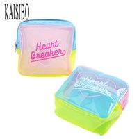 Wholesale Fresh Jelly - Kaisibo Jelly Cosmetic Bag Waterproof Cosmetic Cases Patchwork Travel Wash Bag Women Pvc Makeup Necessaries Pouch Toiletry Bag