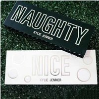 Wholesale Minerals Kit - 14 Colors Kylie Cosmetics Naughty or Nice Earth Color Makeup Eyeshadow Palette Brush Smoky Eye Shadow Shimmer Matte Mineral Waterproof Kits