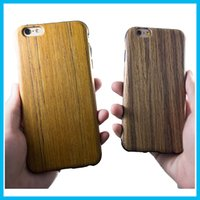 Wholesale iphone engraved back online – custom 2016 Iphone s Plus Case Wood Grain Laser Engraving Environmental Luxury Cases for iphone iphone s Phone Wooden Bamboo Hard Case Back Co