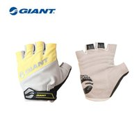 Wholesale Moutain Bicycles - Wholesale-2015 Giant Bike Gloves Brand Cycling Gloves moutain Bike Bicycle half finger Gloves gel pad shockproof sport Bicycle gloves