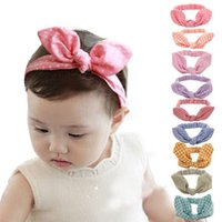 Wholesale Cute Headbands For Sale - 2016 Baby Girls cute Hairband 9 style for choose children Hair Accessories striped grid dot good quaity Headband hot sale