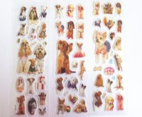 Wholesale Sticker Cell - Kids stickers pet dog cute PUPPY real dog photos stickers wholesale puffy pvc 3D diary cell phone iphone stickers