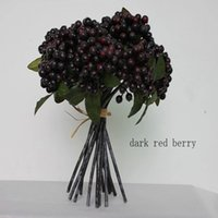 Wholesale Raspberry Decorations - Artificial flowers berry fruit strawberry blueberry fruit home decoration simulation rose cranberry raspberry cranberry mulberry small persi