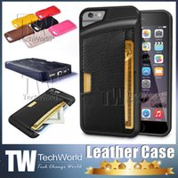 Wholesale Luxury Designer Iphone Wallet Case - New Brand Designer For iPhone 6 cases Ultrathin Hybird Rubber Leather Cover For Iphone 6 Plus Case with Luxury Wallet And Card Holder Shell