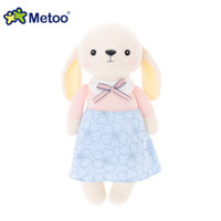 Wholesale Inflatable Doll New - Wholesale- Metoo Doll New Plush Bear Rabbit Toys Boneca Kawaii Stuffed Cartoon Animal Toys Baby Kids Playmate Brinquedo Girls Birthday Gift