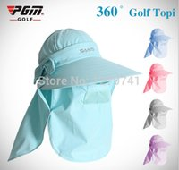 Wholesale Topi For Women - Wholesale-Free shipping new design women golf topee 59cm golf visor golf topi ,topee for sports outdoor sun hat
