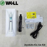 Wholesale Ego Started Kit - Joyetech EGo AIO Quick Start Kit All-in-one Style Device with With 1500mAh Battery and 2ml e-Juice Capacity e Liquid illumination LED Light