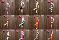 Wholesale-Women Ladies 20pcs / lot Moda Mulberry H Belt Handbag Scarf Silk Twilly Scarves Cheap Silk Satin Wholesale Frete Grátis
