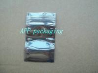 Wholesale Wholesale Static Shielding Bags - 6*9cm Anti Static Shielding Bags ESD Anti-Static Pack Bag Waterproof Zipper Lock Self Seal Antistatic Package Bag