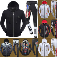 Wholesale Design New Tracksuits - 2017 New fashion men tracksuits famous brand design autumn running sport tracksuit with hats men top quality slim fit