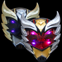 Wholesale Armor Cosplay - Armor Hero Children Anime Mask PVC Cartoon Shiny Cosplay Performance Mask Halloween Party Supplies Kids Toys Gifts 10pcs lot SD345 Promotion