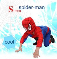 Wholesale Spiderman Latex - Child costumes Spiderman dress Children's gifts Dress