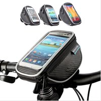 "Wholesale Touchscreen Case - ROSWHEEL 4.2"" 5"" 5.5"" Bike Bicycle Cycle Cycling Frame Tube Bag Panniers Waterproof Handlebar Touchscreen Phone Case Pouch 11810"