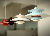 çağdaş kolye lambaları toptan satış-Modern Çağdaş Poul Henningsen PH5 Sarkıt Loui Poulsen Süspansiyon Lambası Kolye Avize 5 Renkler ücretsiz kargo