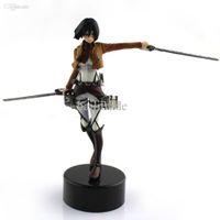 "Wholesale Titan Mikasa - Wholesale-Trendy Japaness Anime High Quality 4.7"" Shingeki No Kyojin Mikasa Figure Figurine Gift Attack On Titan"