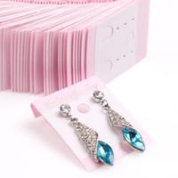 goujons de pendentifs achat en gros de-5.2 cm * 3.6 cm Bijoux de mode Boucle D'oreille Stud Carte Bijoux Emballage Affichage Cartes Populaire DIY Accessoires Résultats Boucle D'oreille Titulaire