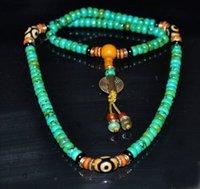 Wholesale Tibetan Buddhist Pendants - Tibet tibetan turquoise buddhist buddha prayer bead mala Necklaces