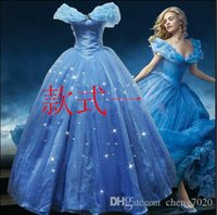 Wholesale Cinderella Costume For Women - 2015 New Arrival Custom Made Adult Cinderella Dress Costumes For Women Fantasia Halloween Party Dress Blue Cinderella Dress