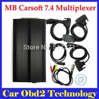 Wholesale Reading Codes - High Quality MB Carsoft 7.4 Multiplexer Diagnostic Tool Read Erase All Fault Codes Read Ecu Information by DHL Free Shipping