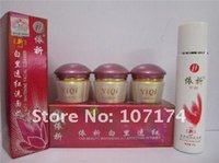 Wholesale Yiqi Facial Creams - Wholesale-YiQi Beauty Whitening cream 2+1 Effective In 7 days Facial cleanser Purple cap