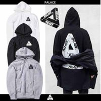 Wholesale Cool Hoodie Men S - Lovers Men's Triangle Printed Hoodies PALACE Sweatshirts Causal Hip Hop Cool Brand Designer Men Jesus Angel Cotton Hoodie Shirts