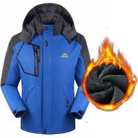hoodies grossos de inverno em lã venda por atacado-EUA tamanho Novo Outono Inverno Homens Hoodies Grosso Quente À Prova D 'Água Blusão Anti Casaco de Lã Fria Confortável Homens Casaco