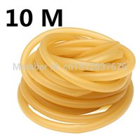 Wholesale Elastic Bands For Fitness - 10 Meter 6x9mm Natural Latex Rubber Tube Tubing Band For Hunting Catapult Slingshot Elastic Part Fitness Wholesale