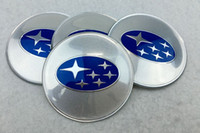 56mm 65mm Universal Wheel Center Hub Caps Car Emblema Insignias para Subaru Forester Legacy Impreza XV STI