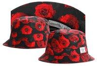 Wholesale Cheap Womens Wide Brim Hats - Wholesale-2015 new 1 pcs wholesale bucket hats for men and women casual fishing hat gorras mens womens sun cap headwear red flower cheap
