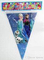 Wholesale 2014New Frozen children birthday party party supplies decorate the room supplies pennants hanging flags bunting H0138