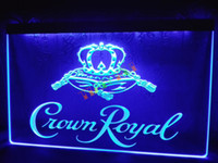 Wholesale Whiskey Signs - LE104-b Crown Royal Derby Whiskey NR beer Bar Light Sign home decor shop crafts led sign