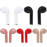 Wholesale Newest Headphones - Newest Mini HBQ I7 TWS Twins Wireless Bluetooth Earbuds Headsets Headphones for iPhone 8 Android Mobile Phone