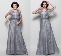 Wholesale Hand Made Shawl - latest style Mother's Dresses With a shawl Draped Hand Made Formal Draped Elegant Mother of the Bride Floor-Length Evening Dresses