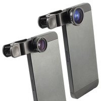 Wholesale Eye S4 - Universal 3 In 1 Clip-on Fish Eye Macro Wide Angle Mobile Phone Lens Camera kit for iPhone 4 5 6 Samsung S4 S5 note2 3 MOTO