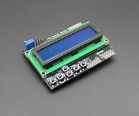 Wholesale Arduino Tft Lcd Shield - Wholesale-Free Shipping LCD Keypad Shield LCD1602 LCD 1602 Module Display for arduino ATMEGA328 ATMEGA2560 raspberry pi UNO blue screen