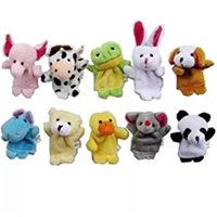 Ingrosso Finger Puppet Peluche Animali Cartoon Zodiaco cinese Bambole Biologiche Bambino Baby Favor Finger Doll Free DHL