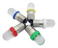 lâmpadas led de parafuso venda por atacado-Parafuso LED Lâmpadas de Luz E10 12 V Branco Azul Vermelho Amarelo Verde Led Globo de Luz DIY