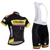 Wholesale New Culotte - New Arrival Team Colombia cycling jersey bike shorts set 100% polyester quick dry Ropa Ciclismo MTB BICYCLING Maillot Culotte cycle clothing