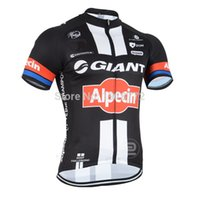Wholesale Giant Jersey Only - Wholesale-2015 GIANT ALPECIN Pro Team Black Red ONLY Ropa Ciclismo Short Sleeve Cycling Jersey Bike Bicycle Wear Size XS-4XL