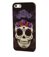 Wholesale Case Iphone 4s Skull - Wholesale Painting Skull Luxury Style Hard Plastic Mobile Phone Case Cover For iPhone 4 4S 5 5S 5C 6 6 Plus