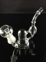 Wholesale Mountain Glasses - Mini Recycler GLASS BONG oil dab bear mountain small bubbler with 18mm oil rig nail and dome