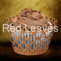 Wholesale Cupcake Wrappers For Sale - 120pcs in a lot ST1010-19 Hot Sale Laser Cutting Lacework Cupcake Wrapper for Wedding Party Cake Decoration