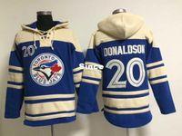 Wholesale Mens Sweaters Baseball - 30 Teams- 2015 New Toronto Blue Jays Mens Sweaters #20 Josh Donaldson Blue Baseball Jersey 5421