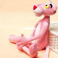 Wholesale Cute Teddy Bears Gifts - Child Gift Cute Naughty Pink Panther Plush Stuffed Doll Toy Home Decor 40CM