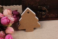 Wholesale Kraft Table Numbers - 100PCS tree Kraft Blank Hang tag Retro Gift tag, Table Number cards,High Quality Kraft Tag Paper Labels Wedding Tags 5.5x5.4CM