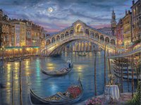 "Wholesale Venice Free - Free shipping 24""x32""inch Robert Finale,painting,Venice,Italy,HOME WALL Decor Prints Realistic Oil Painting Printed On Canvas"